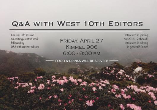 Q&A w: West 10th Editors